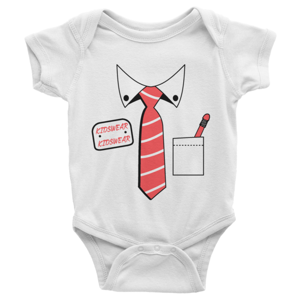 Shirt And Tie Short Sleeve Baby Onesies