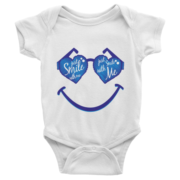 7c22a657d Just Smile With Me Short Sleeve Baby Onesies - Shirterrific