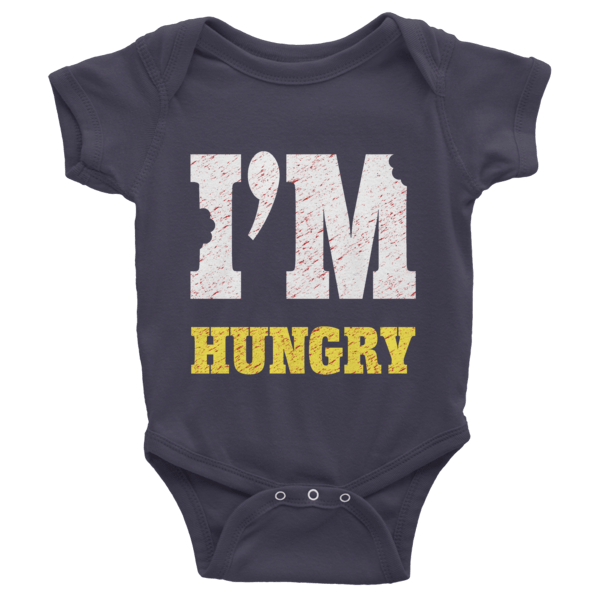 I'm Hungry Short Sleeve Baby Onesies