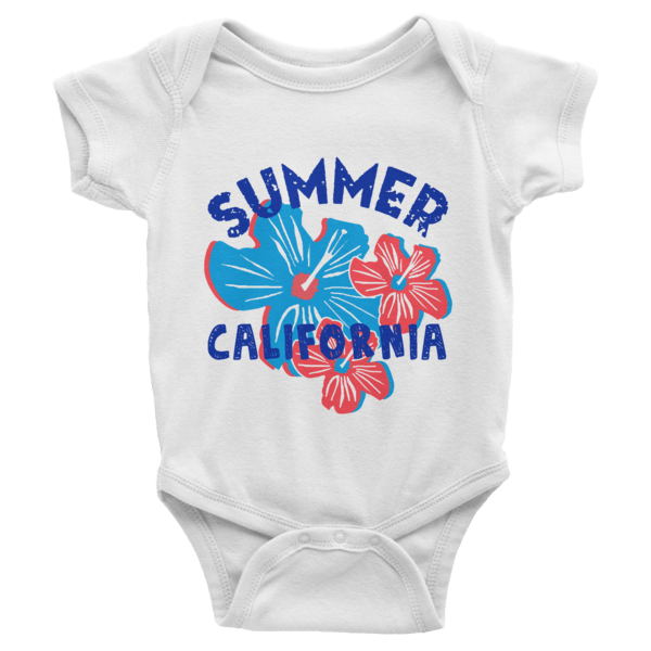 Summer California Short Sleeve Baby Onesies