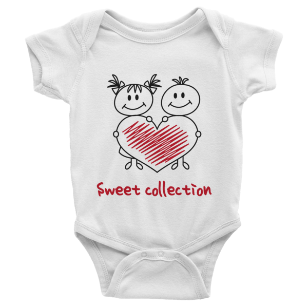 Sweet Collection Short Sleeve Baby Onesies