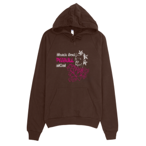 Best Pitbull Mom Hoodie Brown
