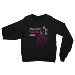 Best Pitbull Mom Sweatshirt Black