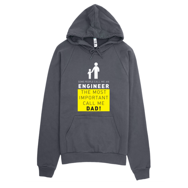 Call Me Engineer Dad Hoodie Asphalt