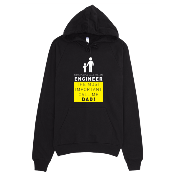 Call Me Engineer Dad Hoodie Black