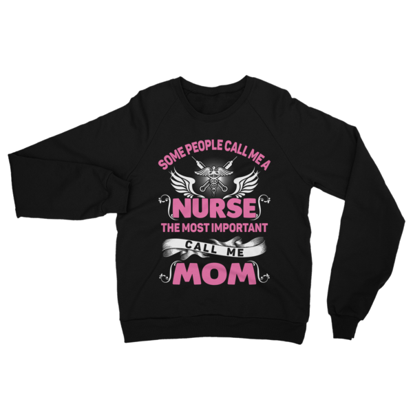 Call Me Nurse Mom Sweatshirt Black