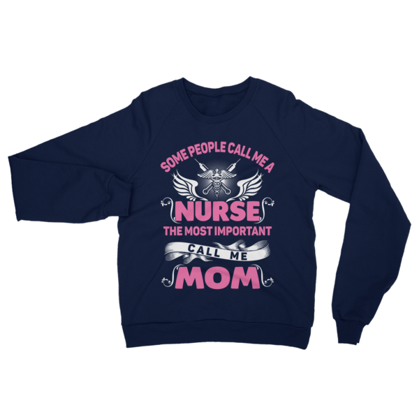 Call Me Nurse Mom Sweatshirt Navy