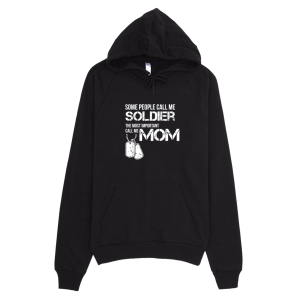 Call Me Soldier Mom Unisex Hoodie Black