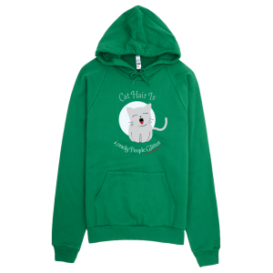 Cat Hair Glitter Hoodie Green