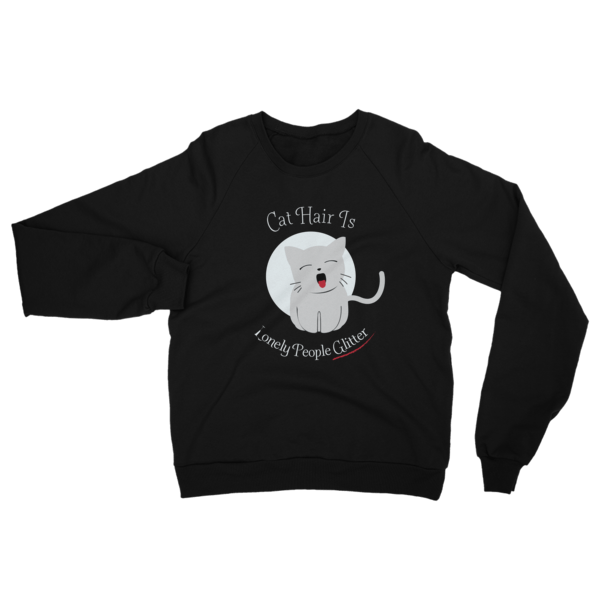 Cat Hair Glitter Sweatshirt Black