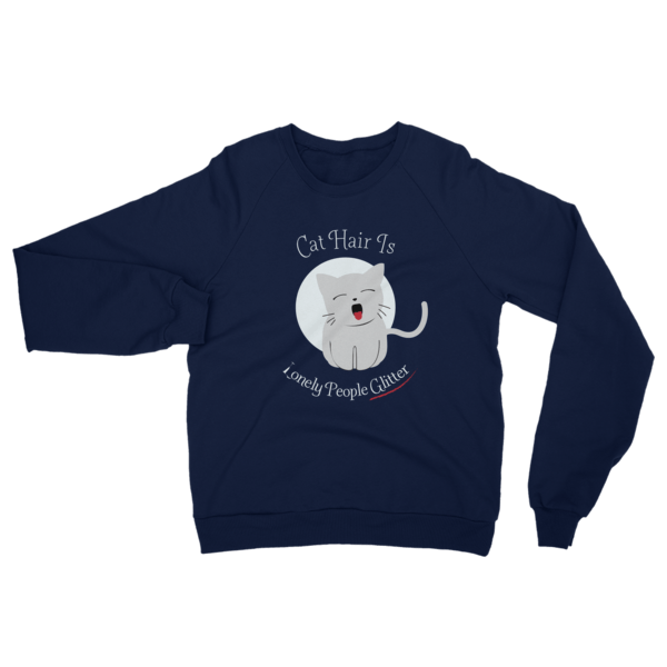 Cat Hair Glitter Sweatshirt Navy