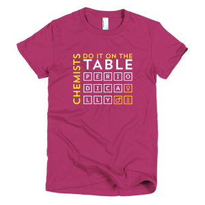 Chemist T Shirts - Chemists Do It On The Table