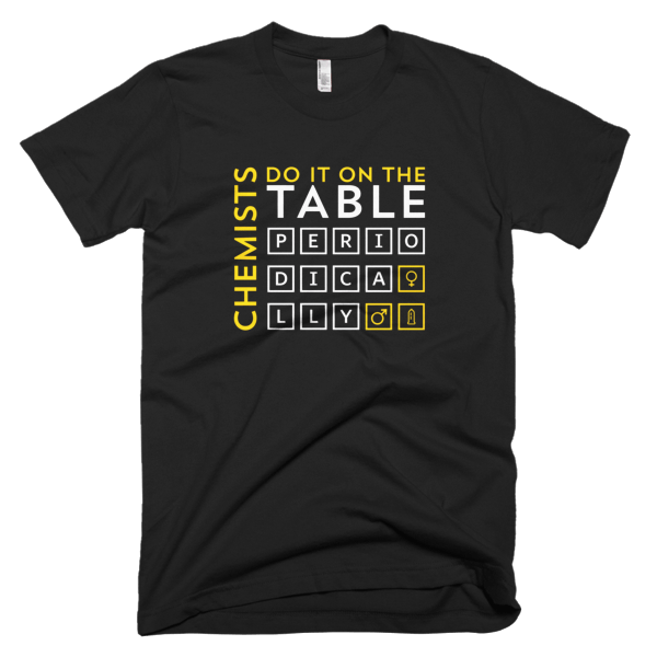 Chemists Do It Periodically Mens Tee Black