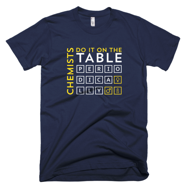 Chemists Do It Periodically Mens Tee Navy