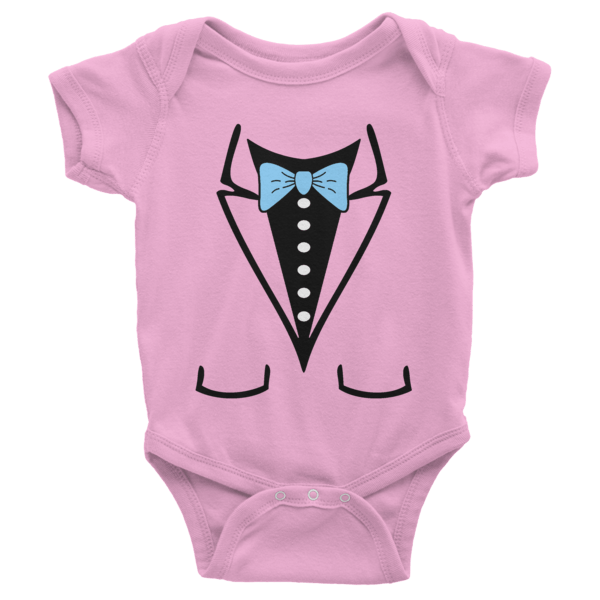 Bow tie short sleeve baby onesies shirterrific for Baby shirt and bow tie