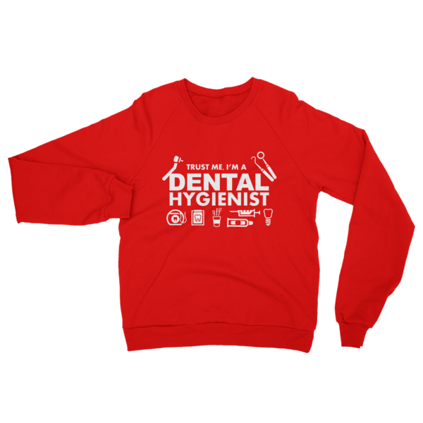 Dental Hygienist Sweatshirt Red