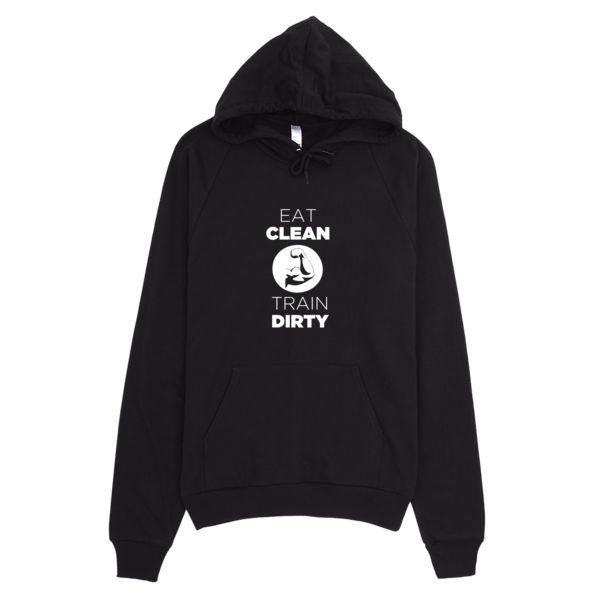 Eat Clean Train Dirty Hoodie Black