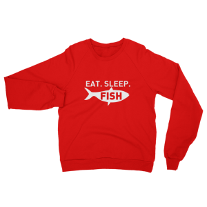 Eat Sleep Fish Sweatshirt Red