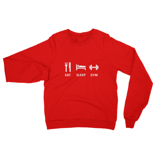Eat Sleep Gym Sweatshirt Red