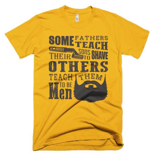 Teach Sons To Shave - Father and Son Tee Shirts