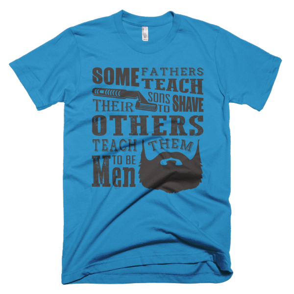 Teach Sons To Shave - Father Son T-Shirt Design