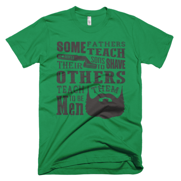 Teach Sons To Shave - Father Son Tee Shirt