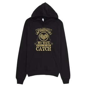 Fishing Wife Best Catch Hoodie Black