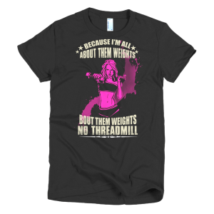 All About Them Weights - Fitness Graphic Tees