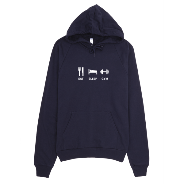 Fitness Hoodie - Eat Sleep Gym