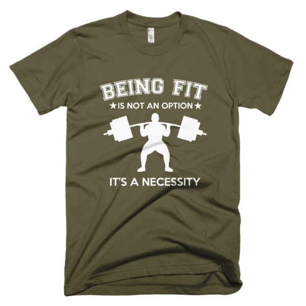 Being Fit - Fitness T-Shirt Design