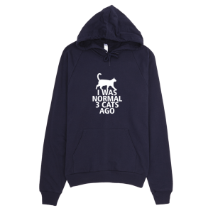 I Was Normal 3 Cats Ago - Funny Cat Graphic Hoodie