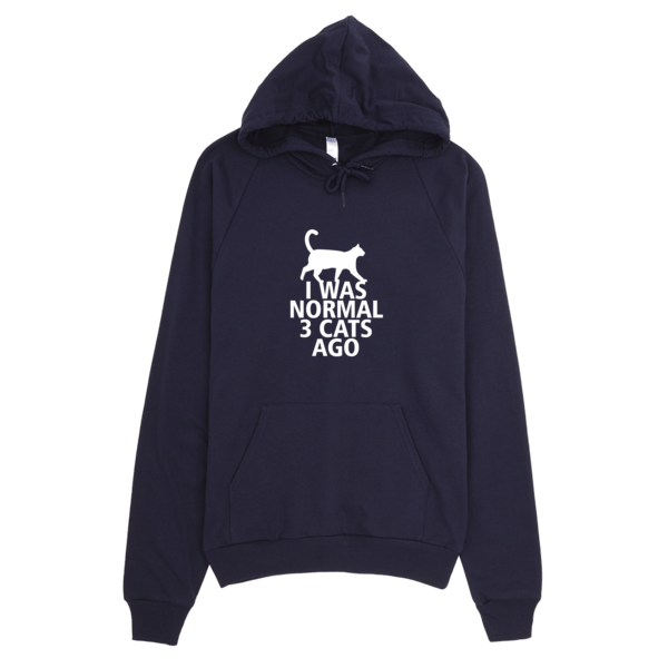 I Was Normal 3 Cats Ago Unisex Hoodie