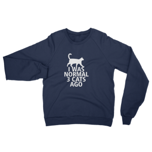 I Was Normal 3 Cats Ago - Funny Cat Sweater