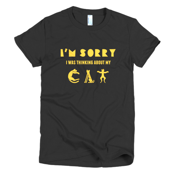 Thinking About My Cat - Funny Cat T-Shirt