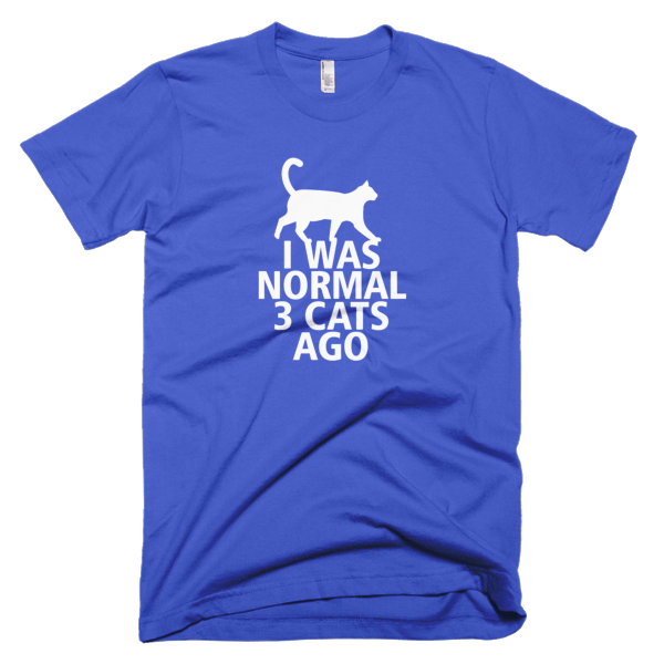I Was Normal 3 Cats Ago - Funny Cat Tees