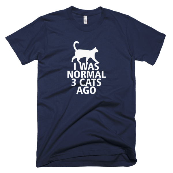 I Was Normal 3 Cats Ago - Funny Cat Tshirts