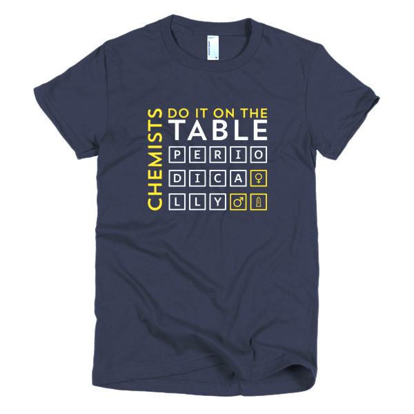 Geek T Shirts - Chemists Do It On The Table