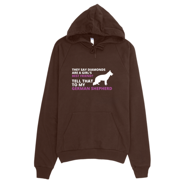 German Shepherd Best Friend Hoodie Brown