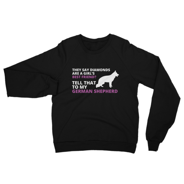 German Shepherd Best Friend Sweatshirt Black
