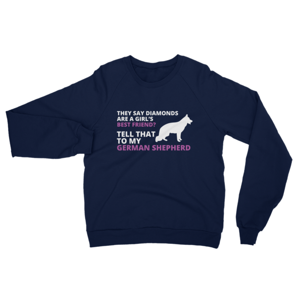German Shepherd Best Friend Sweatshirt Navy