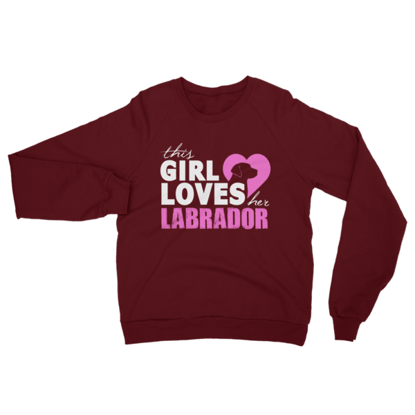 Girl Loves Her Labrador Sweatshirt Truffle