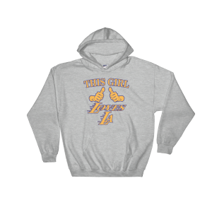 Girl Loves LA Hooded Sweatshirt Sports Grey Unisex