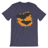 Halloween Bats T-Shirt Heather Midnight Navy Unisex