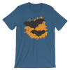 Halloween Bats T-Shirt Steel Blue Unisex
