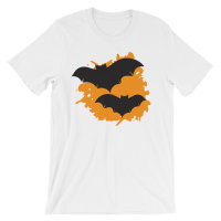 Halloween Bats T-Shirt White Unisex
