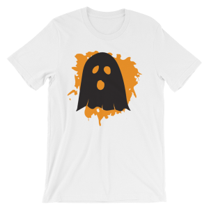 Halloween Ghost T-Shirt White Unisex