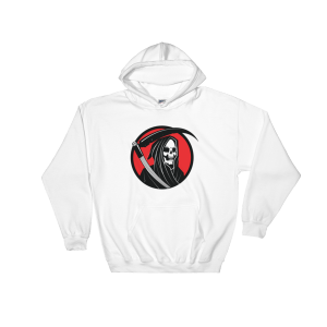 Halloween Grim Reaper Hooded Sweatshirt White Unisex