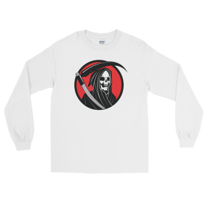 Halloween Grim Reaper Long Sleeve T-Shirt White Unisex