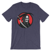 Halloween Grim Reaper T-Shirt Heather Midnight Navy Unisex