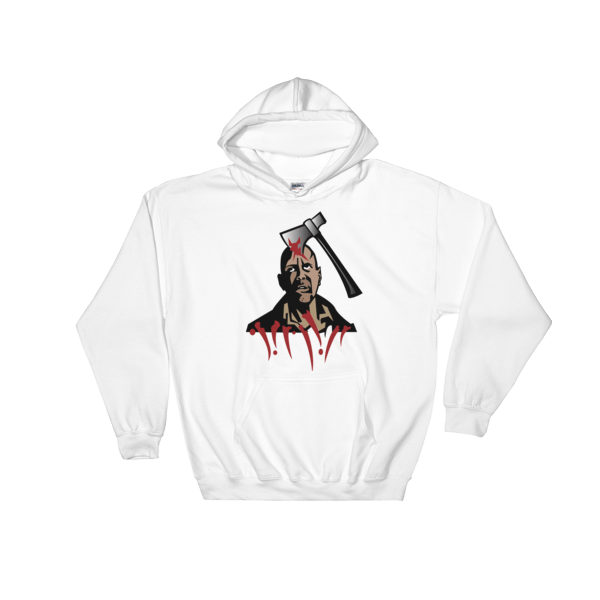 Halloween Murder Hooded Sweatshirt White Unisex